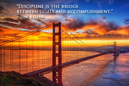 "FFQ#007: ""Discipline is the bridge between goals and accomplishment."" -Jim Rohn (06 AUG 18)"