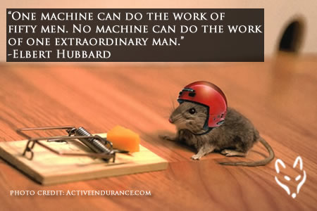 "FFQ#021: ""One machine can do the work of fifty men. No machine can do the work of one extraordinary man."" -Elbert Hubbard (17 SEP 18)"