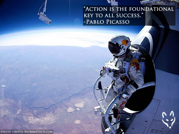 "FFQ#050: ""Action is the foundational key to all success."" -Pablo Picasso"